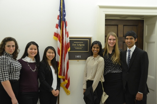 MAP delegates at Zoe Lofgren's office
