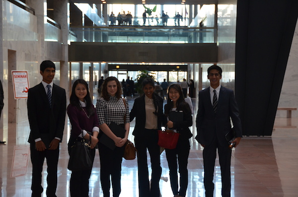 MAP Students at Hart Senate Building
