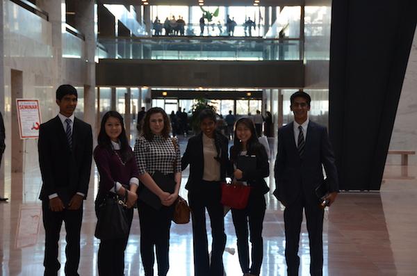 MAP Students at Hart Senate Building