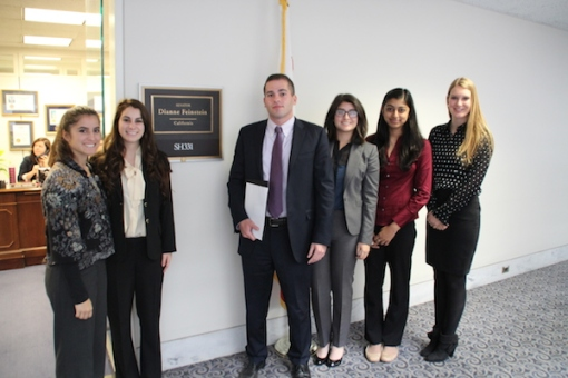 MAP students at Diane Feinstein's office on Monday.