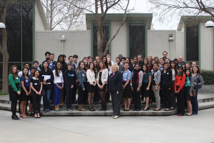 Student participants from 2013 Conference with Congresswoman Zoe Lofgren